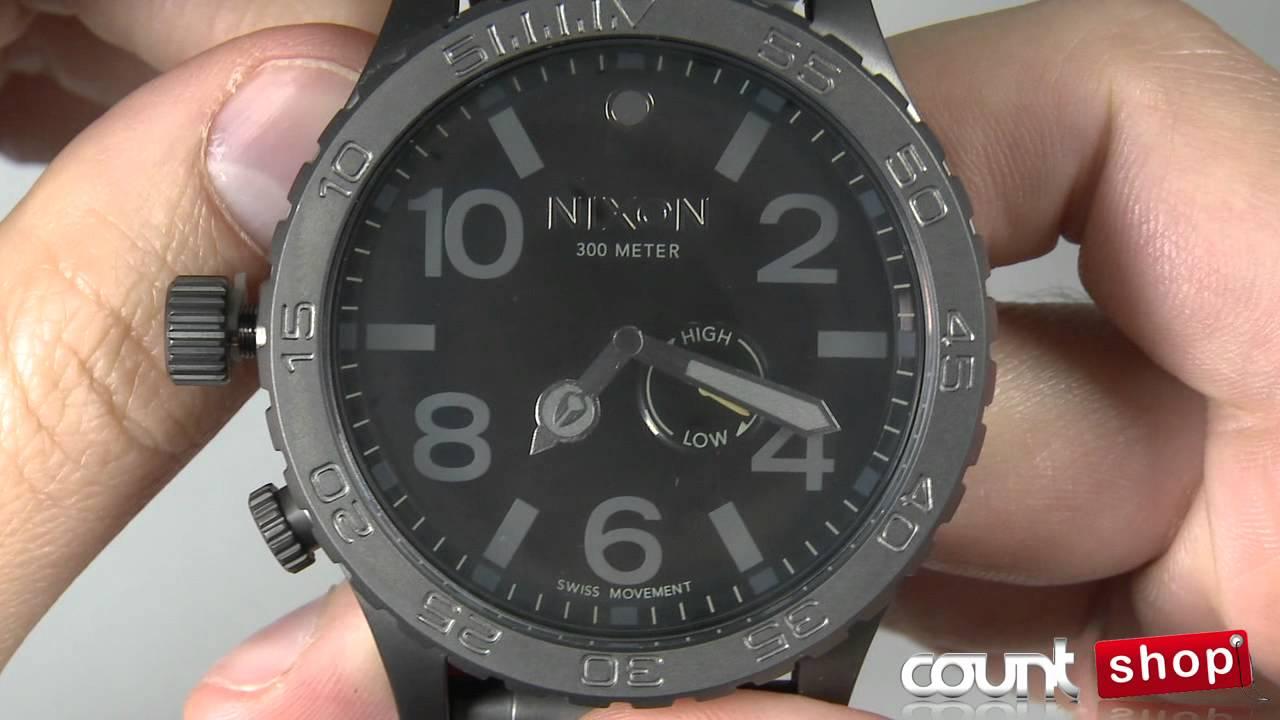 073e667235a Nixon 51-30 A057 All Gunmetal Black - review by DiscountShop.com ...