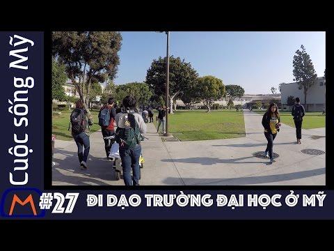 Cuộc sống Mỹ - Vlog 27: Đi dạo trường Đại học ở Mỹ