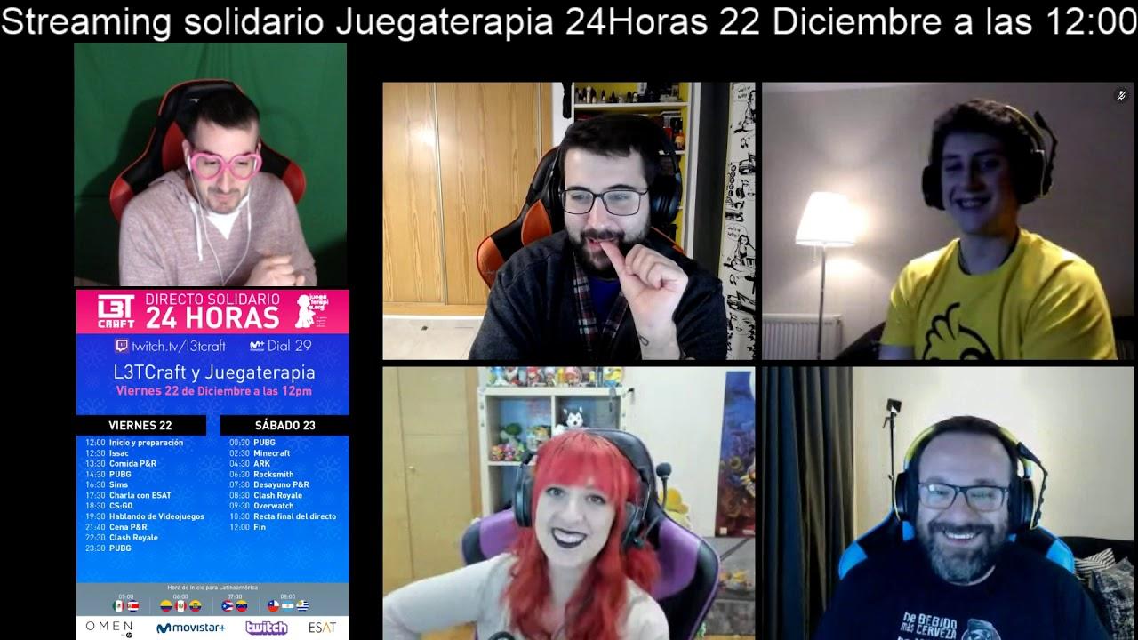 Anuncio Streaming Solidario Juegaterapia - 22 y 23 de diciembre 2017 -
