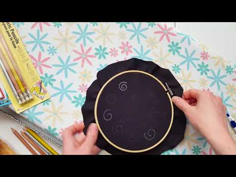 Options for transferring embroidery patterns to dark or thick fabrics