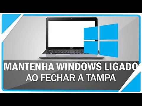 Como manter o Windows ligado ao fechar a tampa do Notebook