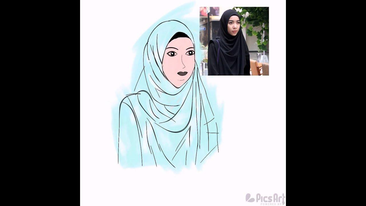 Gambar Muslim Pinterest Html Gambar Kartun Muslimah Wedding Di