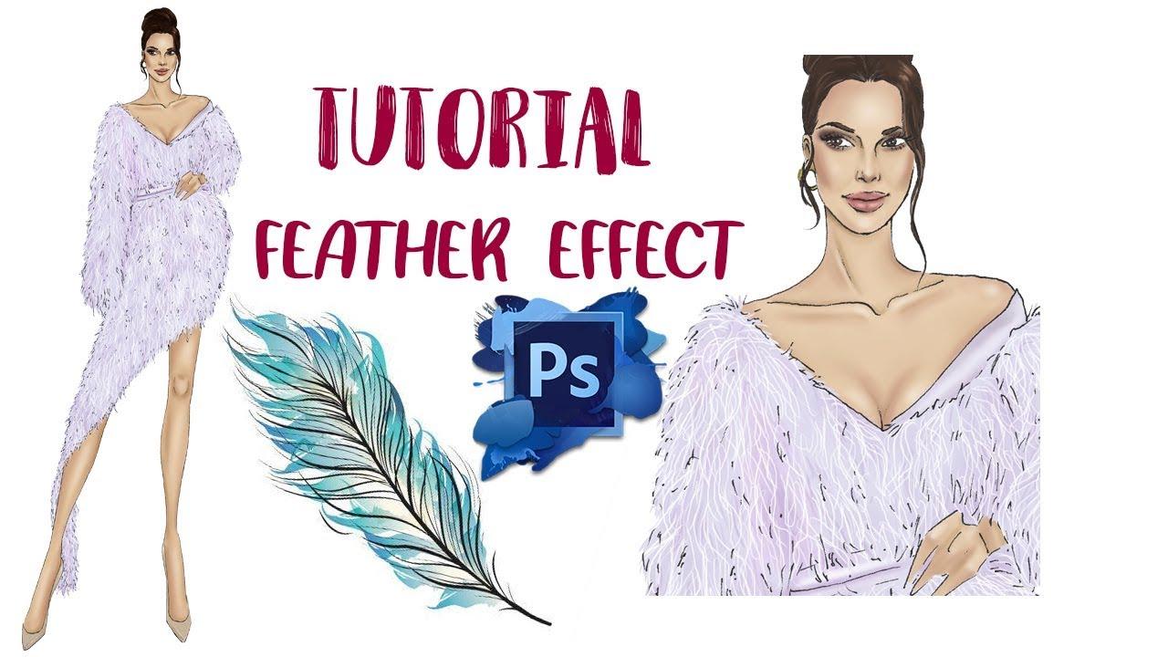 Tutorial Feather Effect With Photoshop Fashion Illustration Youtube