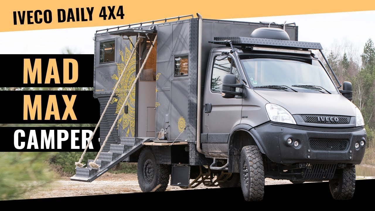 iveco daily 4 4 wohnmobil in mad max optik youtube. Black Bedroom Furniture Sets. Home Design Ideas