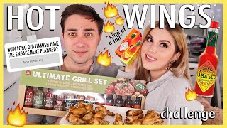 hot wings challenge with my fiance! 😜🔥 Q&A and food challenge!