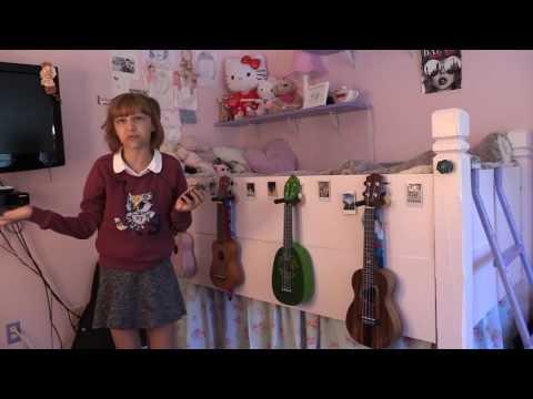 Grace VanderWaal talks about the ukuleles displayed in her bedroom