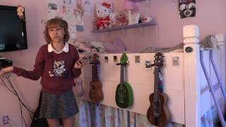 Grace VanderWaal talks about the ukuleles displayed in her bedroom