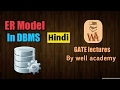ER Model in DBMS in hindi |  DBMS gate lectures in hindi | #3