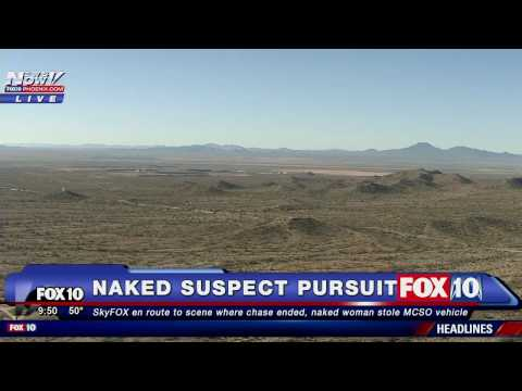 FNN: Police CHASE - Pursuit of Stolen Police Car - Female Suspect NAKED (Viewer Discretion Advised)
