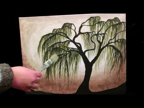 Easy Acrylic Painting Tree