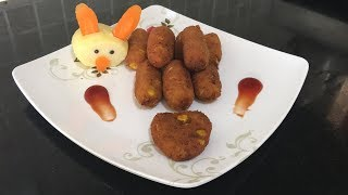 Veg Cutlet | Veggie Croquettes | Easy and quick appetizers
