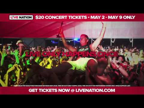 Live Nation $20 Ticket Offer | May 2 - May 9