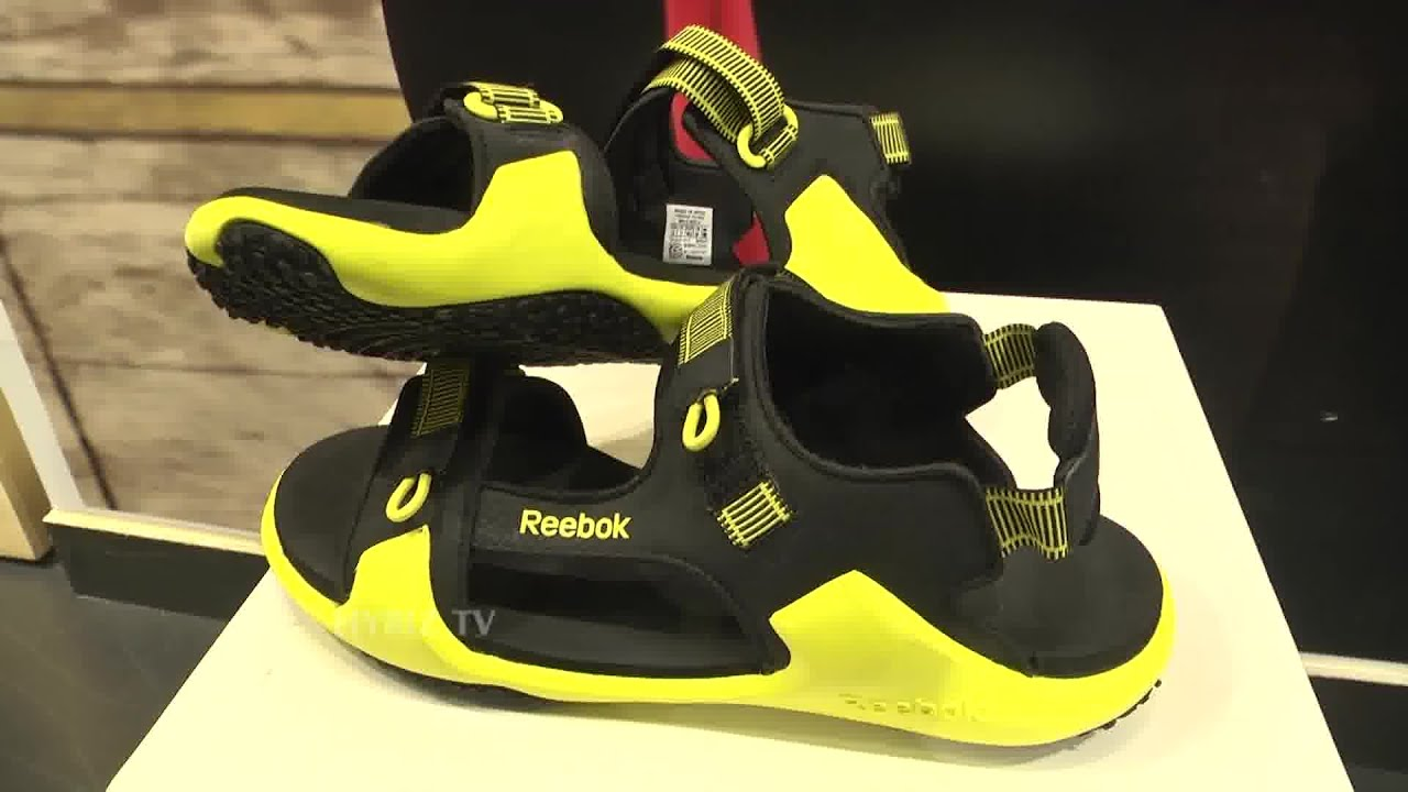 807fa6e34bc6 Reebok Sandals At Reebok Store Jubilee Hills - Hybiz.tv - YouTube