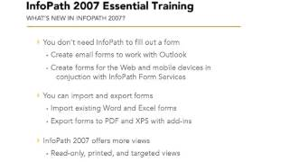 Introducing InfoPath 2007 from the Course InfoPath 2007 Essential Training