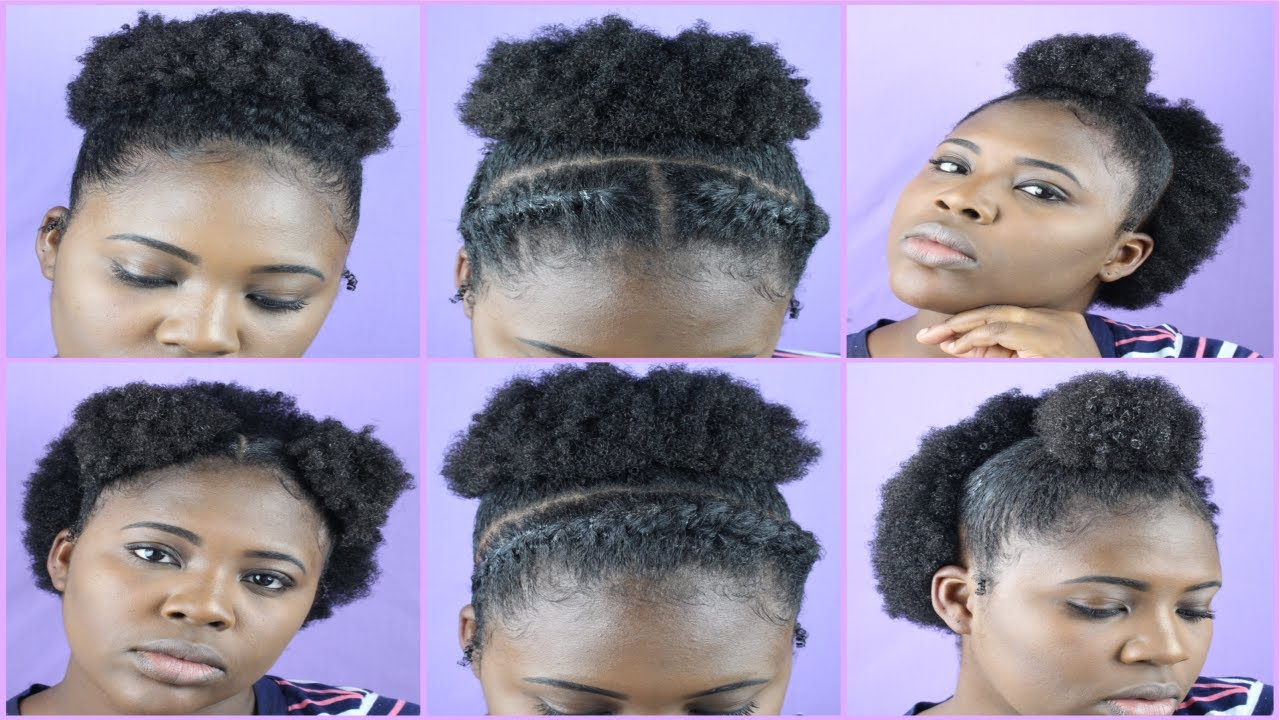 Natural Hairstyles Tutorial Quick Easy 4b 4c Hair High Puff