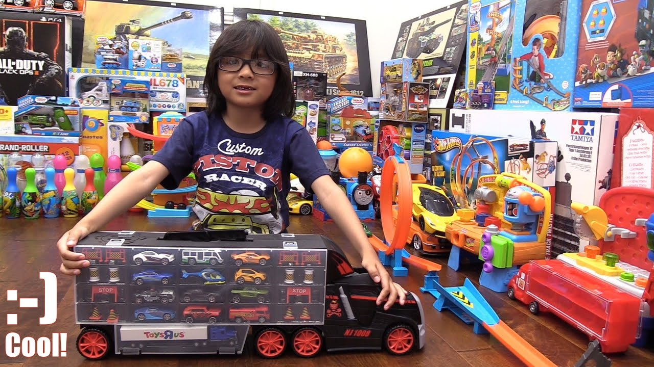 Toy Channel Kids Toy Cars Fastlane Car Carrier Truck Unboxing