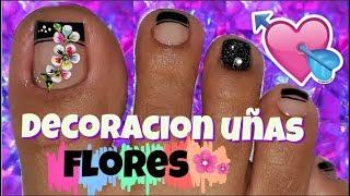 ♥Decoración  De Uñas Pies /Nail Decoration Feet Flower