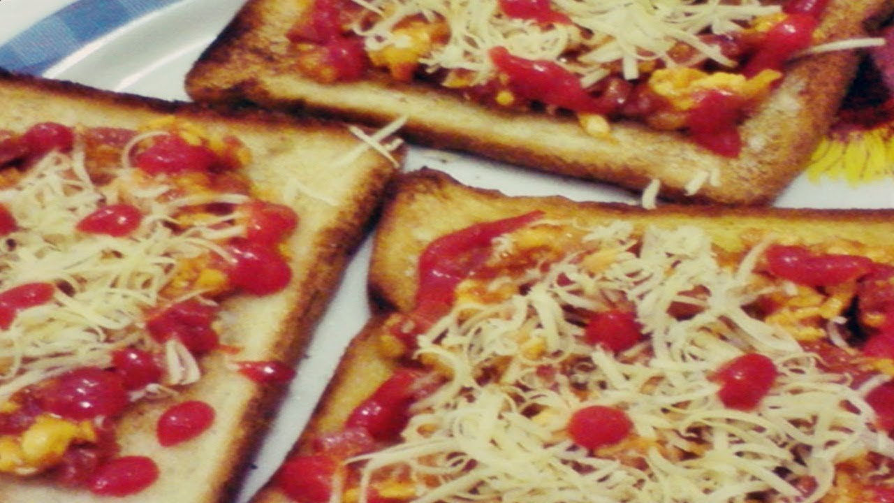 Cara Membuat Pizza Sederhana Dengan Roti Tawar Youtube