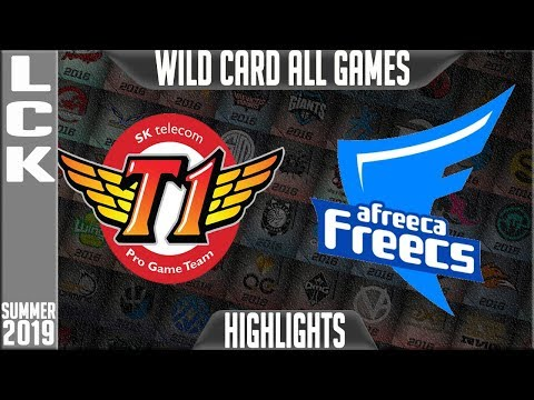 SKT vs AF Highlights ALL GAMES   LCK Summer 2019 Playoffs Wild Card   SK Telecom T1 vs Afreeca Freec