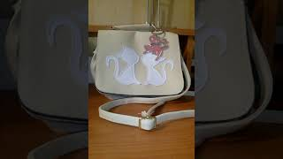 Обзор на Бежевую сумку с изображением котят.