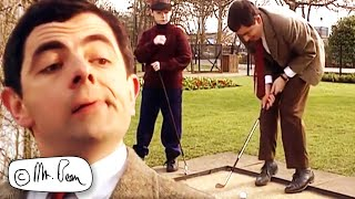 Playing GOLF | Mr Bean Funny Clips | Mr Bean Official