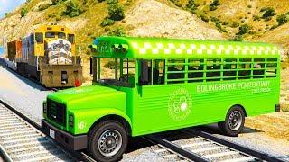 Züge Cartoon - Wie zu stoppen Den Zug Mit Bus