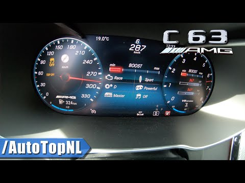 2020 Mercedes C63 S AMG 0-287km/h ACCELERATION & TOP SPEED By AutoTopNL