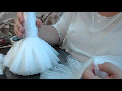 plisado de tull para el interior de la falda de nuestra muñeca de