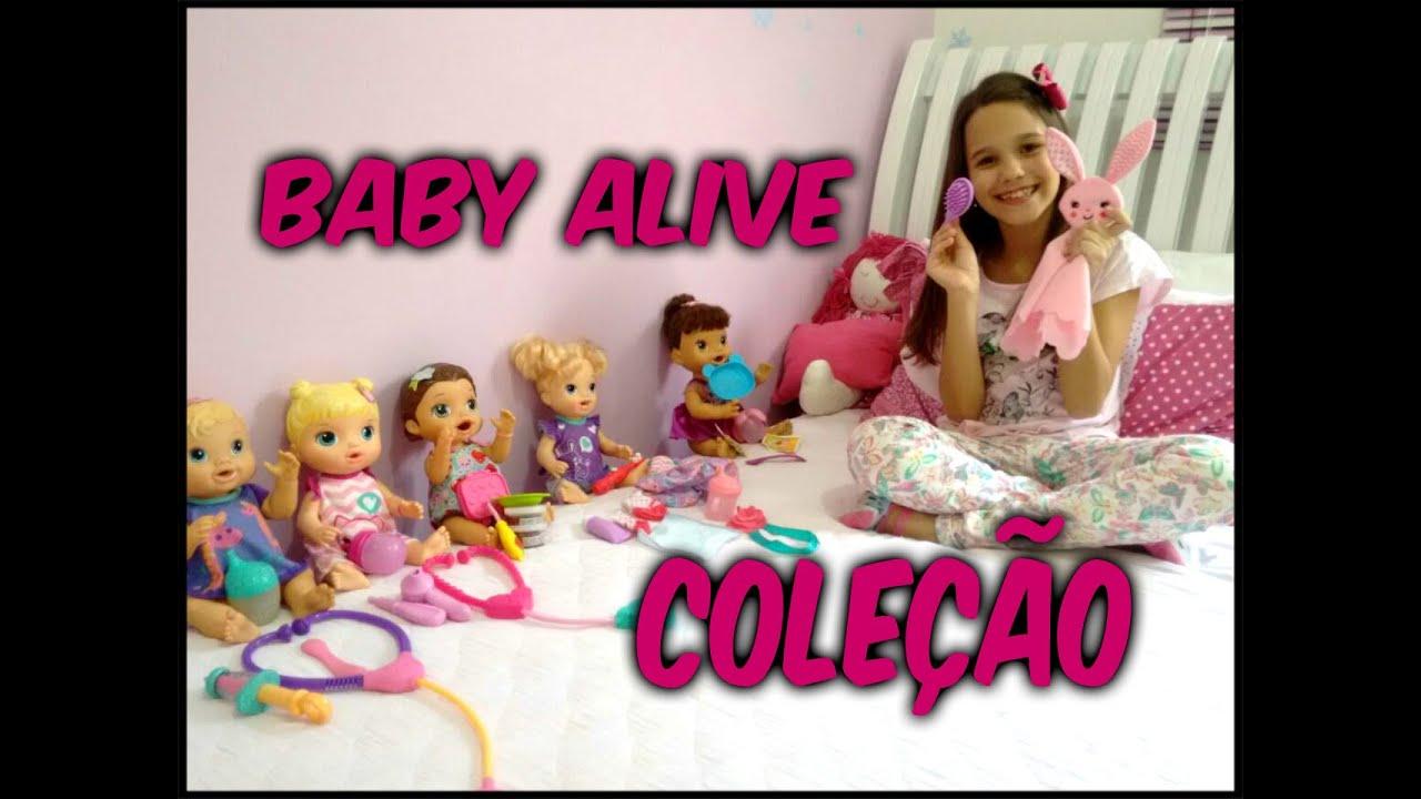 100ffd9989 MINHA COLEÇÃO DE BABY ALIVE - YouTube