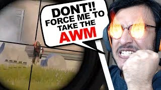 THEY FORCED ME TO TAKE THE AWM! | PUBG MOBILE HIGHLIGHTS | RAWKNEE