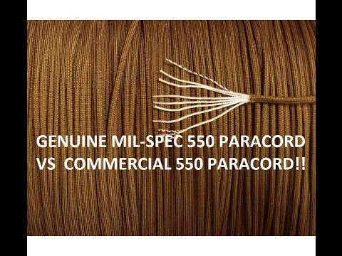 GENUINE Military Mil Spec 550 Paracord vs Commercial 550 Paracord.