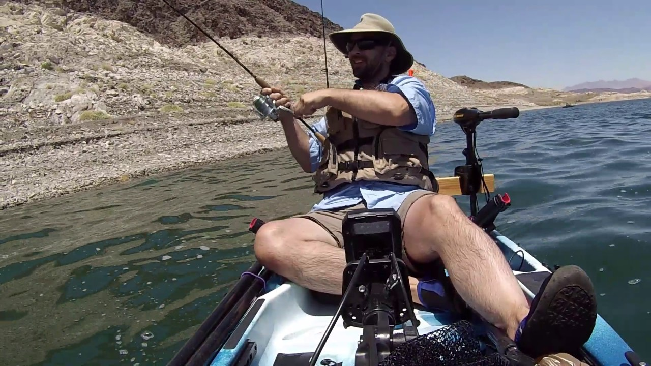 Kayak fishing lake mead 2 youtube for Fishing lake mead