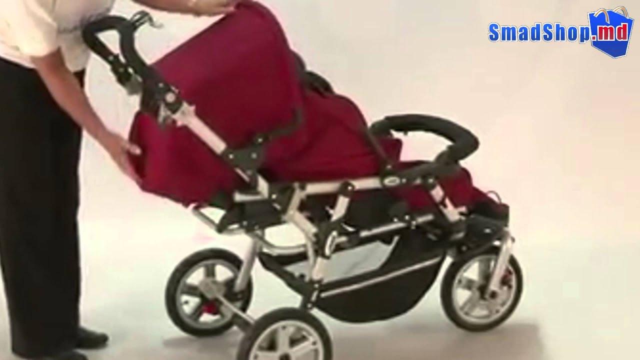 Детский Трёхколёсный велосипед коляска Transformer MODI Azimut 6 в .