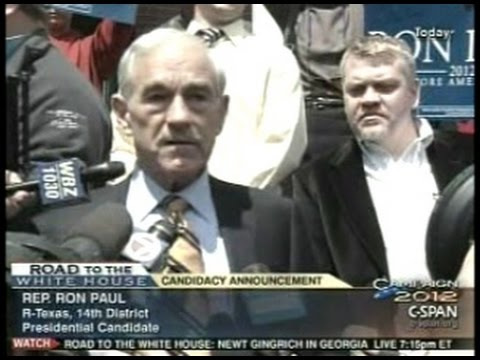 Ron Paul Official Presidential Campaign Announcement (For 2012 Election)
