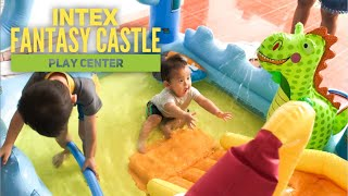 KOLAM RENANG ADA PEROSOTAN, NAGA, dan PEDANG | INTEX FANTASY CASTLE PLAY CENTER MAINAN AIR