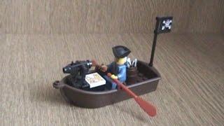 лодка пиратов из LEGO