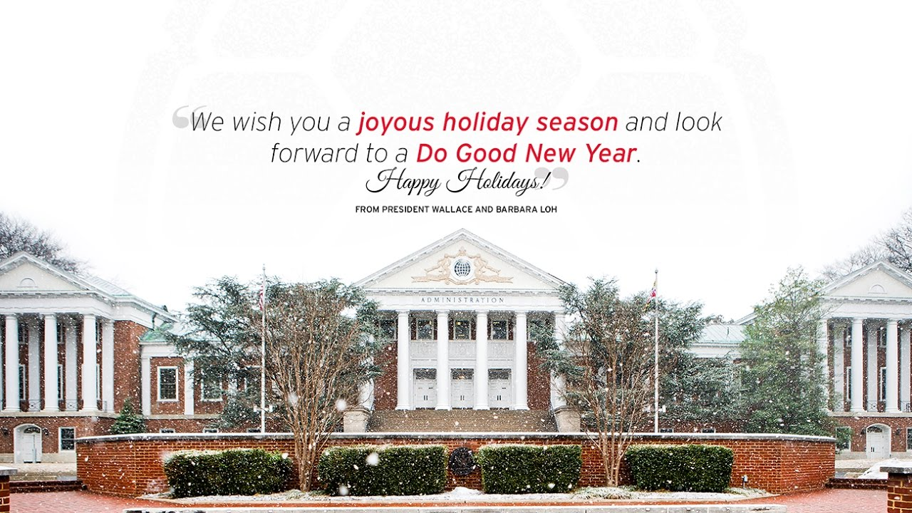 University of maryland 2016 holiday greetings youtube university of maryland 2016 holiday greetings kristyandbryce Image collections