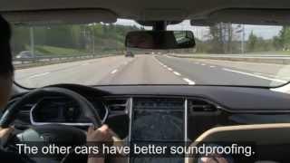 Tesla Model S Performance 85 test drive in Oslo (English sub)