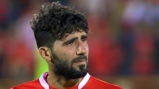 بكاء العراقي بشار رسن بعد تأهل فريقه برسبوليس إلى نهائي دوري أبطال آسيا ويهدي التأهل لوالدته