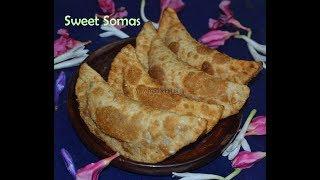 சோமாஸ் / Karanji / Sweet Somas recipe - Easy Diwali recipes | Madraasi
