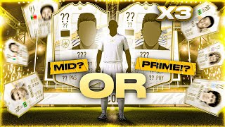 What do you get from 3 Guaranteed Mid or Prime Icon Packs?