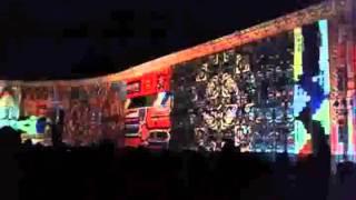 Дворцовая 06.01.2015 - световое шоу.