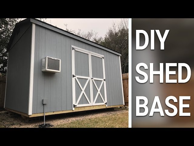 Easy DIY Shed Bsse using TRUEGRID Permeable Pavers
