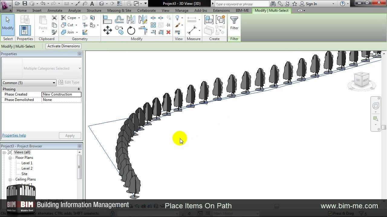 Place Items On Path Divide In Revit From Bim Me Wmv Youtube