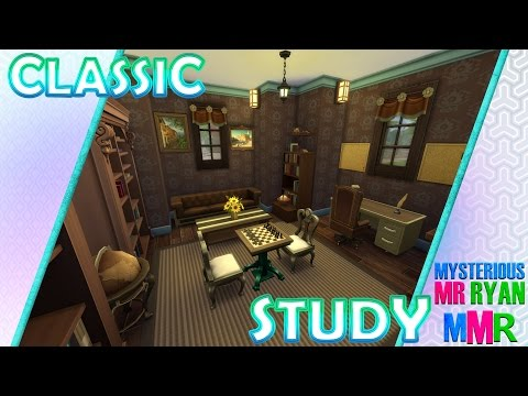 MMR | The Sims 4 Room Build | Classic Study