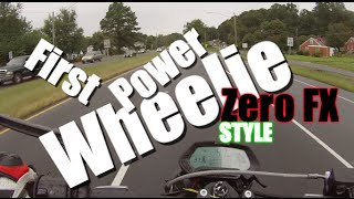 First time Power wheelie on Zero Motorcycles FX Demo Ride