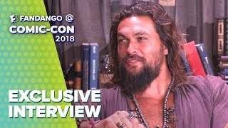 Jason Momoa's Kingdom is Full of Beer & Babies | 'Aquaman' Comic-Con 2018 Full Interview