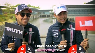Force India's Sergio Perez and Esteban Ocon | Grill the Grid: Truth or Lie?