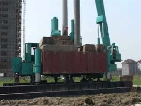 video for T-WORKS hydraulic piling machine