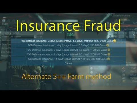 MGSV- Insurance Fraud, Alternate S++ Farm